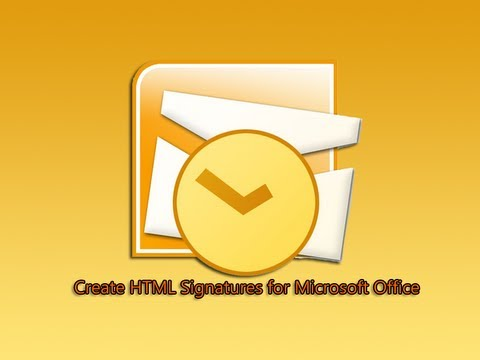 Create HTML Signatures for Microsoft Office