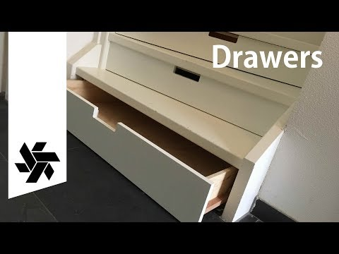 Make drawers under a Staircase // How-to Woodworking project