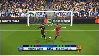 PARIS SAINT GEMAIN [PSG] vs FC BARCELONA | UEFA Champions League - UCL | Penalty Shootout | PES 2018