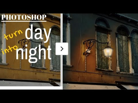 How to turn Day to Night in Photoshop - turn a day time photo into a night scene
