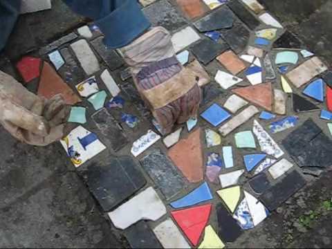 Mosaic in our garden