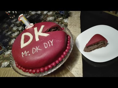 Homemade cake for the first birthday on my youtube channel Mr.DK DIY