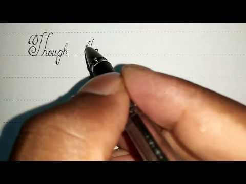 Ball pen handwriting | perfect calligraphy | Cursive lettering | CURSIVE WRITER