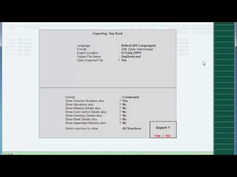 How to Export Data From Tally In  jpg, xls, xml etc Format