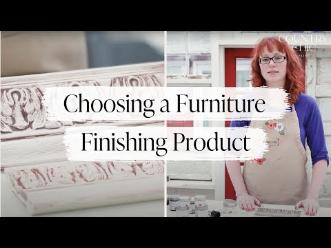 How to Finish Painted Furniture | Choosing Metallic Cream, Wax or Glaze For Your DIY Project