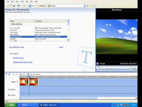 How to make a cool intro with windows movie maker