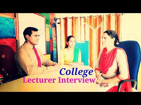College Lecturer interview questions and answers : Professor