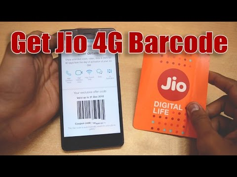 How to Generate Jio  4G Bar Code in any Device [October Updated]