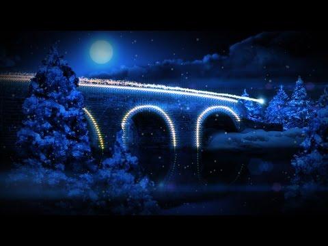 Animated Christmas Card Template - Illuminated Xmas Village