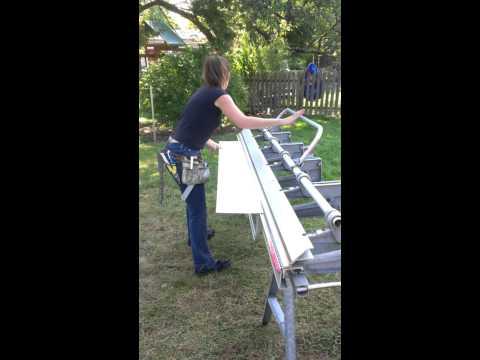 Stacey bending trim for garage door