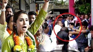 Urmila Matondkar & Congress Workers BEAT Up People Shouting MODI Slogans