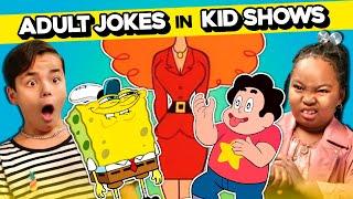 Kids React To Adult Jokes In Kids' Shows (SpongeBob, Animaniacs, Steven Universe \u0026 More!)