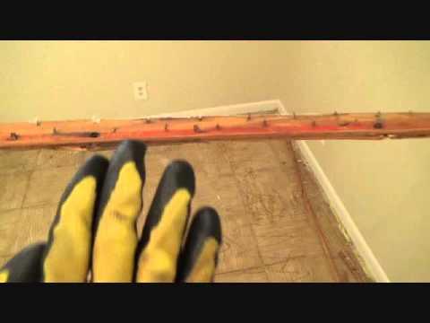 The easiest way to remove old carpet tack strip!