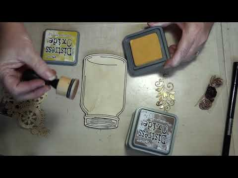 How to create a Vintage corner tuck-process video
