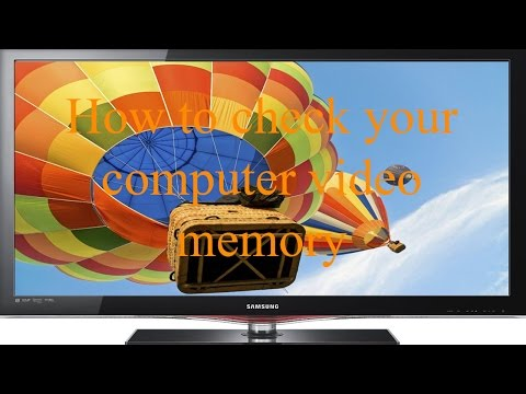 how to check video memory in windows 7