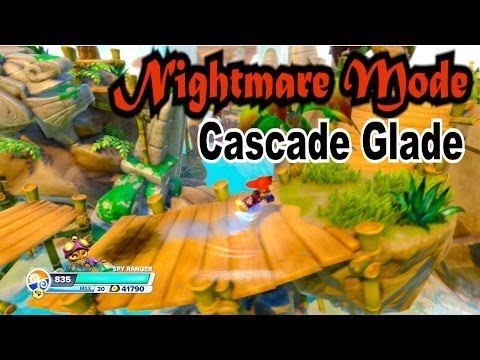 Skylanders Swap Force - Cascade Glade - Nightmare Mode With Rainbow Bridge Bonus!