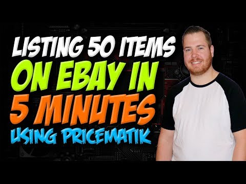 Listing 50 items on eBay in 5 minutes using Pricematik