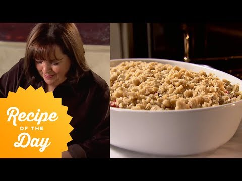 Recipe of the Day: Ina's Strawberry Rhubarb Crisp   Food Network