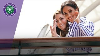 The Duchess of Cambridge and The Duchess of Sussex arrive at Wimbledon