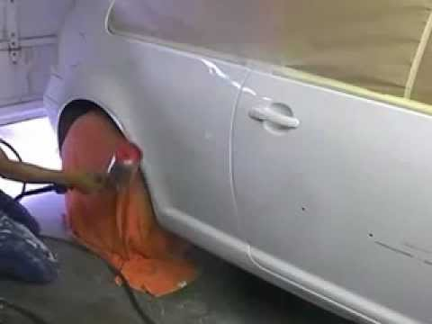 Painting 2001 Golf. Learn How To Paint Cars Go To- www.learnautobodyandpaint.com