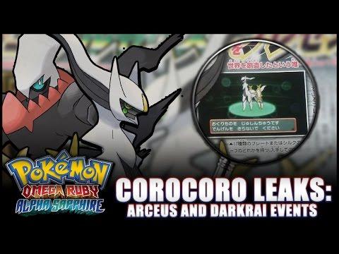 Pokémon Omega Ruby and Alpha Sapphire - News: Japan Arceus event, Corocoro, UK Darkrai distribution!