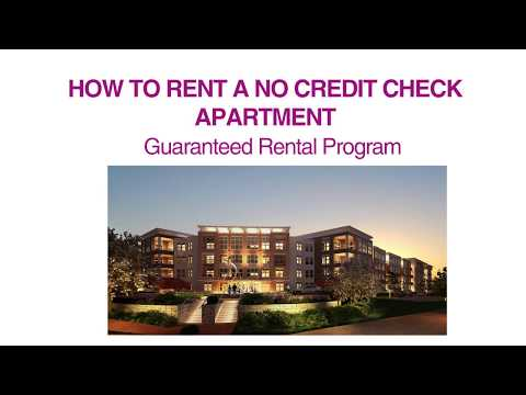 HOW TO RENT A NO CREDIT CHECK APARTMENT 800-934-9807