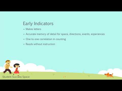 Early Indicators of Gifted and Talented