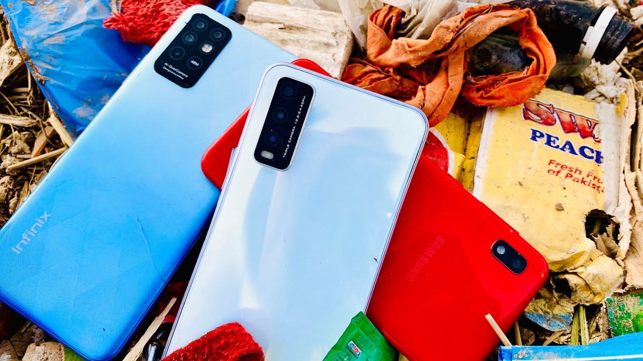 Restoration abandoned destroyed phone found from trash | Restoring Broken Vivo Y20 phone