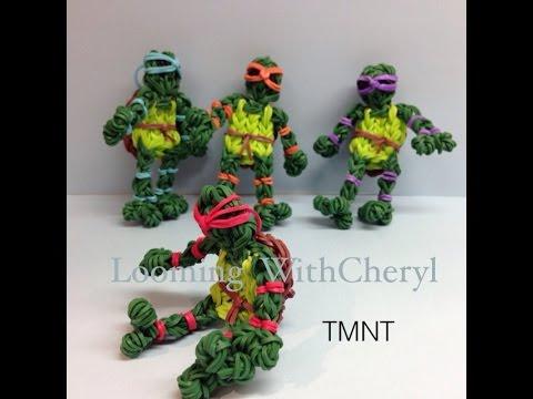 Rainbow Loom Teenage Mutant Ninja Turtles  -  Gomitas - Looming WithCheryl - TMNT