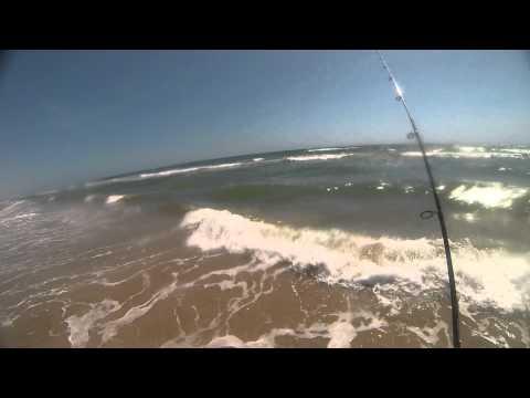 Texas Surf Fishing POV Red Fish