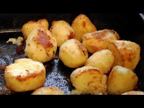 Christmas Roast Potatoes cooked in duck fat Recipe