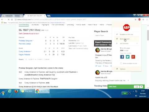 How to hide Harsha Bhogle's expert comments from cricbuzz