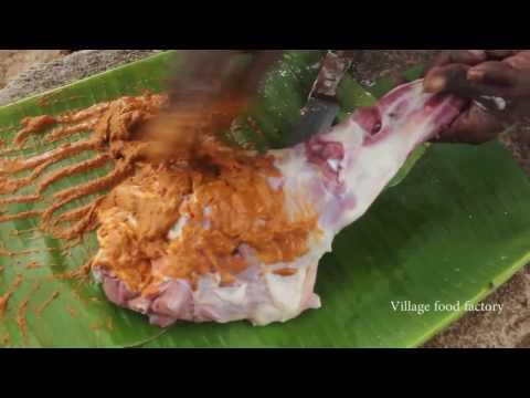 Mutton leg roast prepared