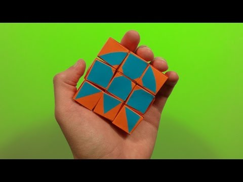 How to make the origami moving cubes - tutorial