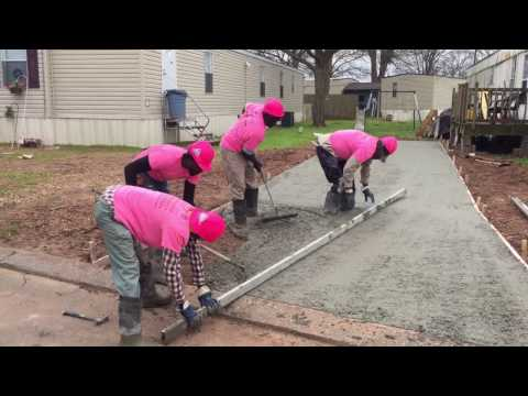 Best How TO Install A Concrete Driveway Installation--iConcrete Construction Breast Cancer Awareness