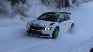 test  J.Kopecký - P.Dresler , na rally Monte Carlo 2017