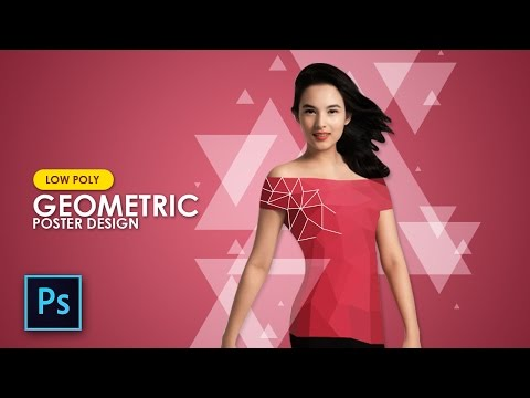 How to Create Low Poly & Geometric Design for Magazine Cover - Photoshop Tutorial  indonesia