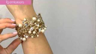 Snow's Faux Pearl Cuff Bracelet - Gold