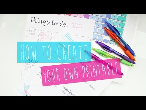 Create Your Own Printable Planner: Tips & Tricks ♡