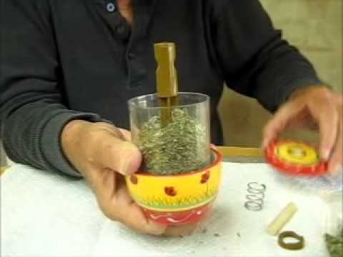 How to fill an herb grinder