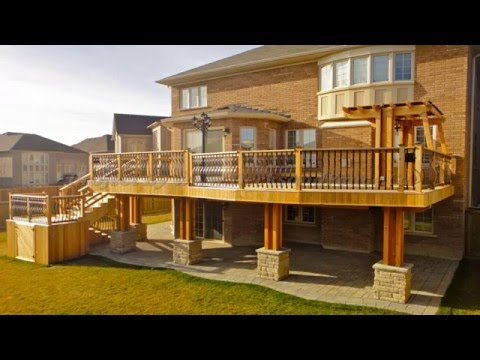 Multi Level Wooden Deck With Pergola - Great Outdoor Area