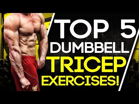Top 5 Dumbbell Tricep Exercises! Build Muscle & Strength!