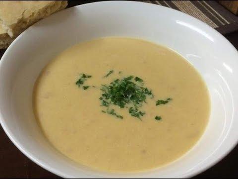 Potato Onion Soup with Arugula Recipe