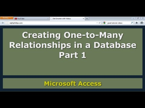 Access - Creating One-to-Many Relationships Part 1