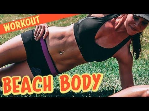 10-Min Follow Along Body Weight Beach WORKOUT | Episode I