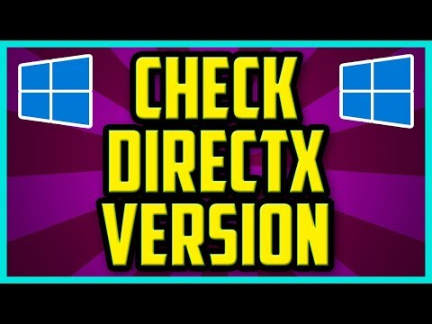 How To Check Which Version Of DirectX Is Installed On Windows 10 2018 (EASY) - Directx Check Command