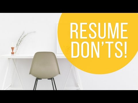 Things Hiring Managers Don't Want to See on Your Resume