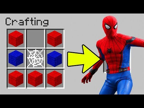 HOW TO CRAFT THE SPIDERMAN OUTFIT IN MINECRAFT!