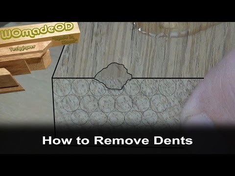 How to Remove Dents from Wood