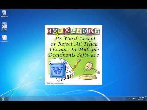 How To Use MS Word Accept or Reject All Track Changes In Multiple Documents Software